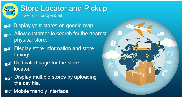 OpenCart Store Locator and Pickup