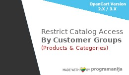 Restrict Categories and Product Access by Custom..