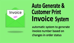 Auto Generate & Customer Print Invoice