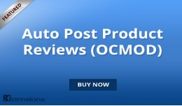 Opencart Auto Product Reviews (OCMOD)