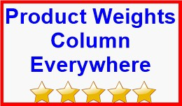 Product Weights Column Everywhere