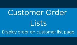 Customer Order Lists