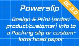 Powerslip: Design and Print Order info on compan..
