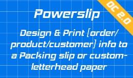 powerslip print packing slip or invoice on any p..