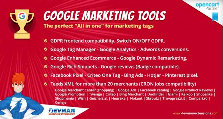 Google Marketing Tools - GDPR Compatible!