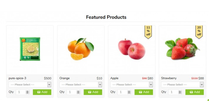 Product options with GRID/LIST,Featured module