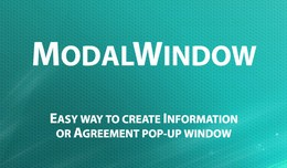 Modal Window - Information & Agreement pop-u..