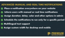 Advanced manual and real time notifications
