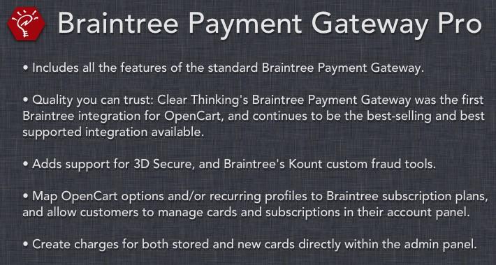 Braintree Payment Gateway Pro
