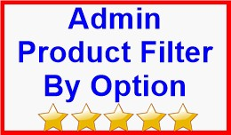 Admin Product Filter By Option