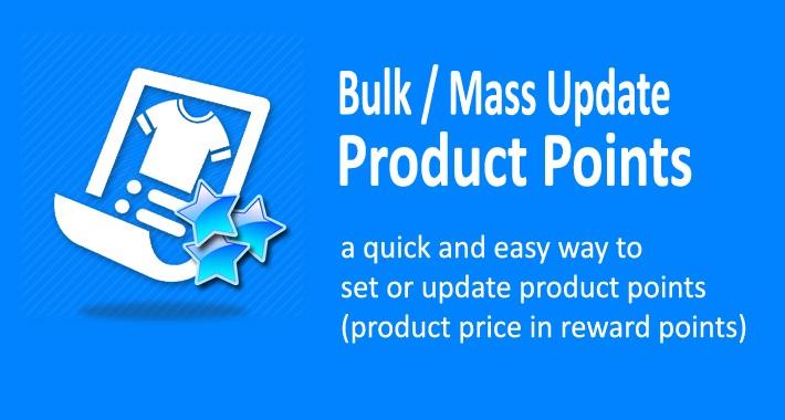 Product (Reward) Points Generator - Bulk Set / Update