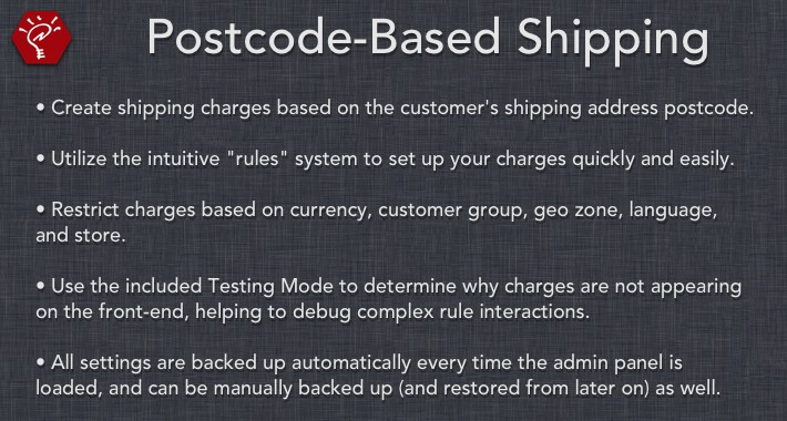 Postcode-Based Shipping