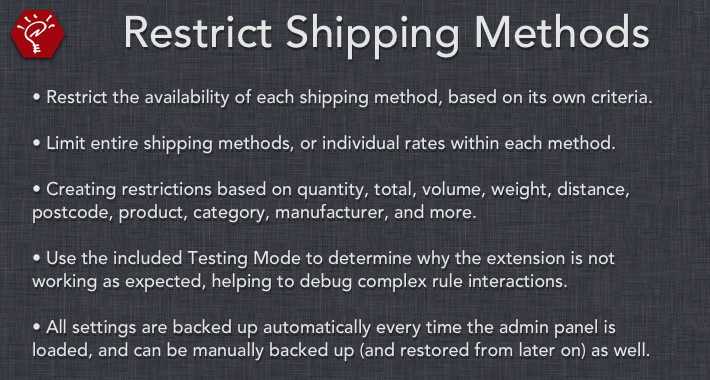 Restrict Shipping Methods