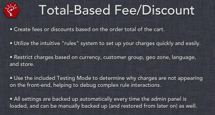 Total-Based Fee/Discount