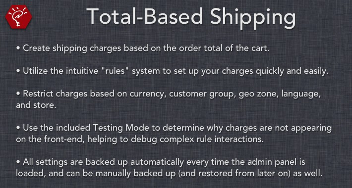 Total-Based Shipping
