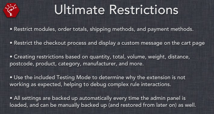 Ultimate Restrictions