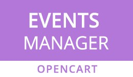 OpenCart Event Manager with Calendar View & ..