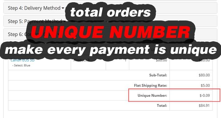 Unique (Random) Number - Order Totals