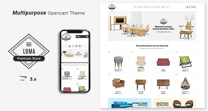 Luma Premium Opencart 3 Furniture Stores