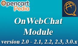 Opencart Onwebchat - live chat module