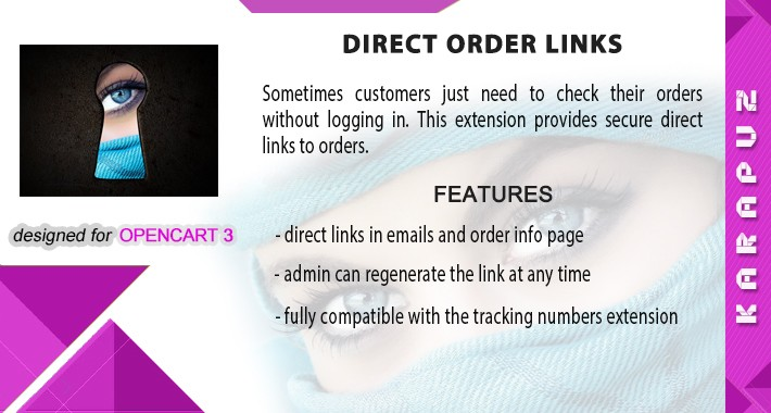 Direct Order Links (Opencart 3)