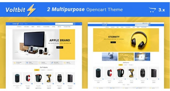 Voltbit - Multipurpose Responsive Opencart 3.x Theme