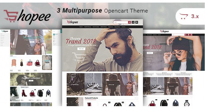 Shopee - Multipurpose Responsive Fashion Opencart 3.x Theme