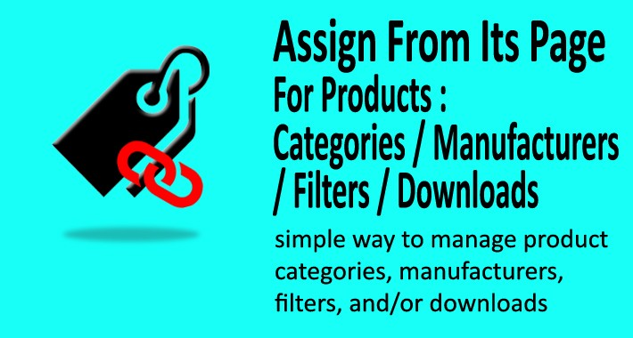 Product Categories, Filters, Manufactures, Downloads Easy Set