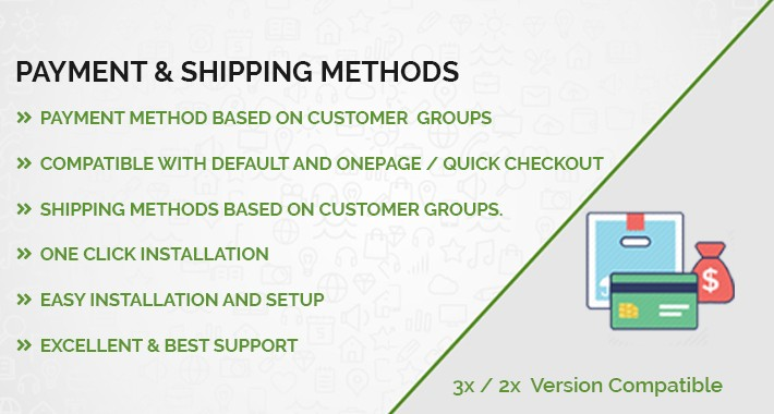 Payment & Shipping methods accordingly customer Group