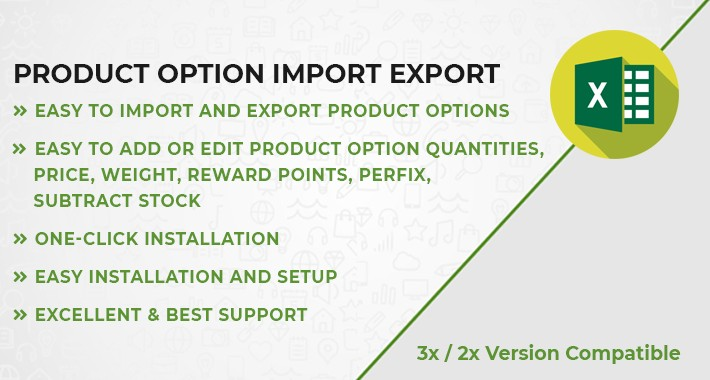 Product Option Import Export