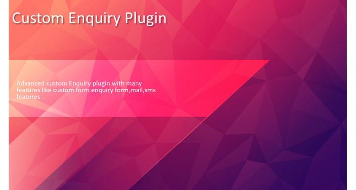 Custom Enquiry Plugin