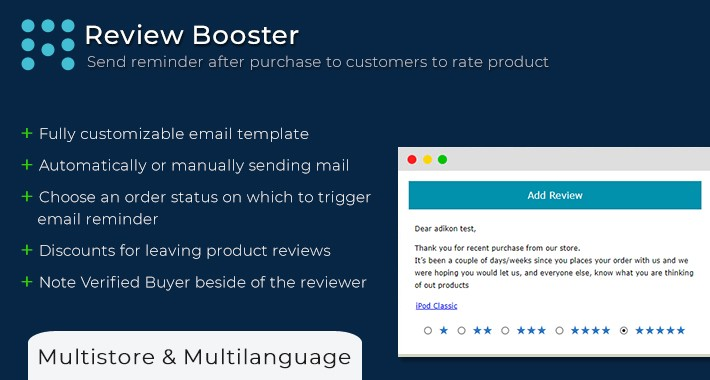 Review Booster   Order Reviews