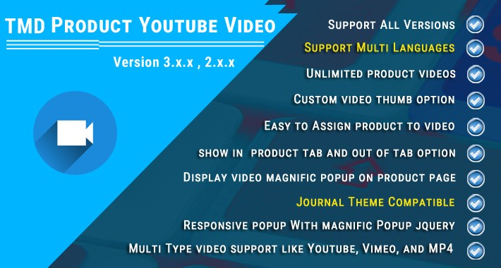 Product Youtube video (Multilanguage ) (1.5.x , 2.x & 3.x)