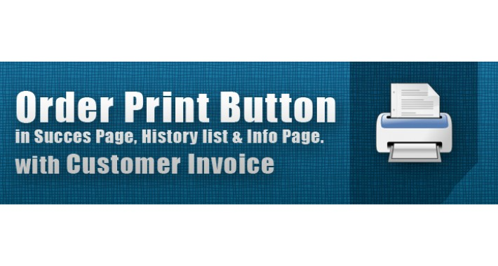 Order Print Button in Success, History page