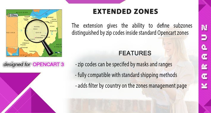 Extended Zones (Opencart 3)