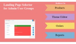 Landing Page Selector for Admin User Groups
