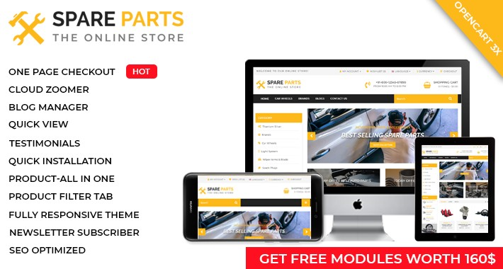 Spare Parts  - OpenCart 3 Multi-Purpose Theme