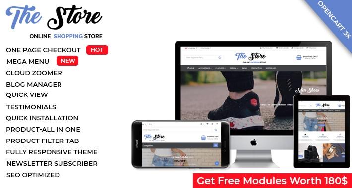 The Fashion Store - OpenCart 3 Multi-Purpose Theme