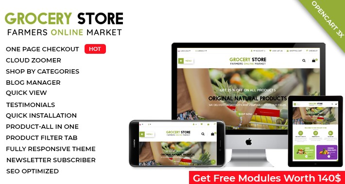 Grocery Store  - OpenCart 3 Multi-Purpose Theme