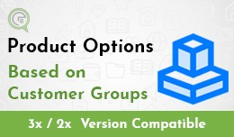 Product Options Based on Customer Groups
