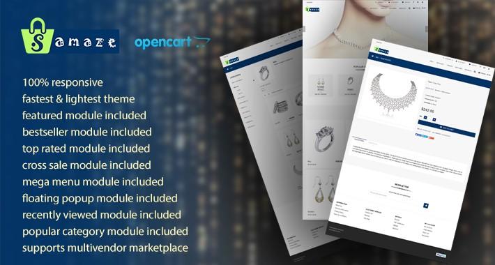 ShopAmaze - Marketplace Opencart 3 Theme