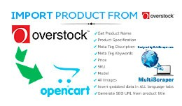 Import product from Overstock.com