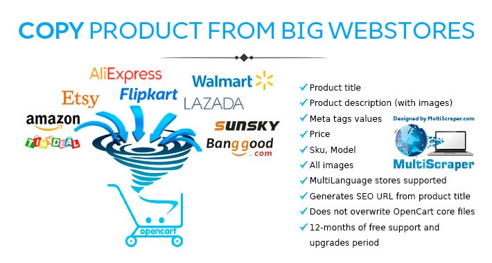 Copy product from big marketplaces