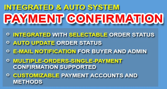 Payment Confirmation for Bank Transfer