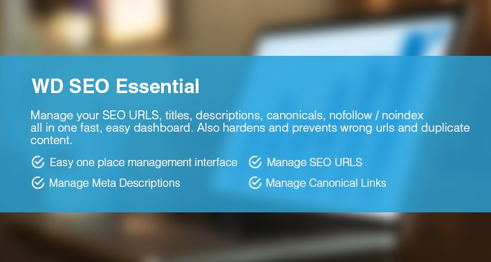 Essential SEO Manager (WD SEO Ultimate)