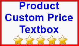 Product Custom Price Textbox