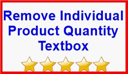 Remove Individual Product Quantity Textbox