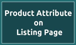 Product Attribute on Listing