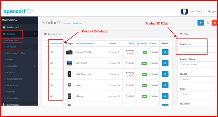 Product ID Column + Filter At Admin Product List