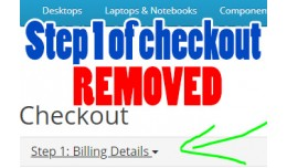 Completely Remove Step 1 of Checkout!